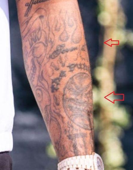 PJ Tucker sun tattoo