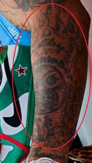 PJ Tucker sun tattoo2