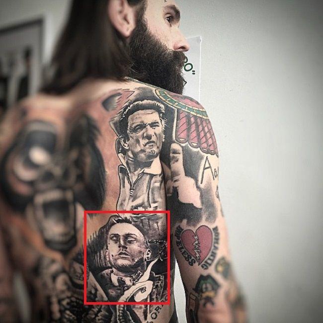 Ricki Hall-Back-Tattoo