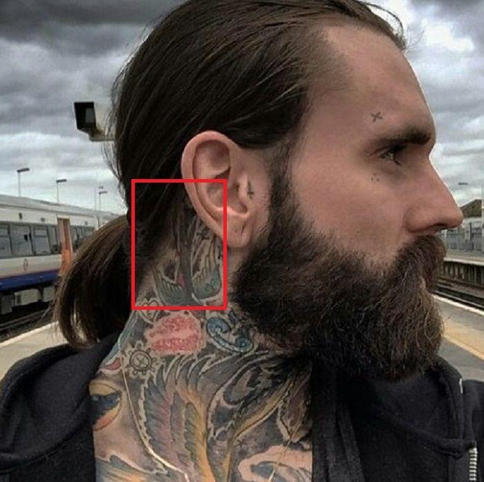 Ricki Hall-Ear-Tattoo