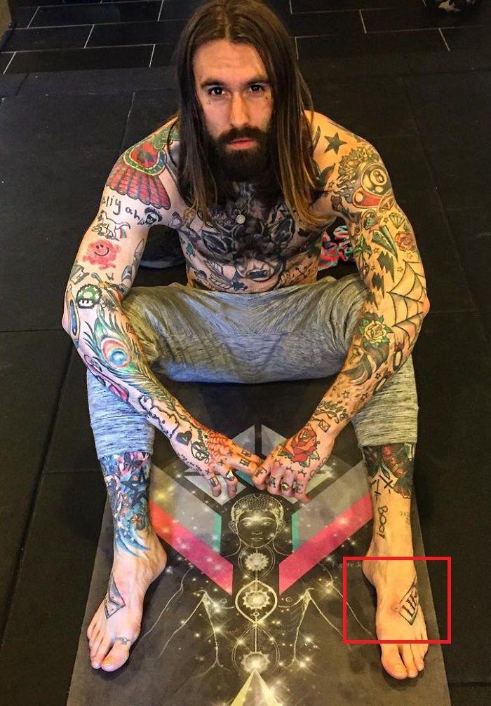 Ricki Hall-Foot-Tattoo