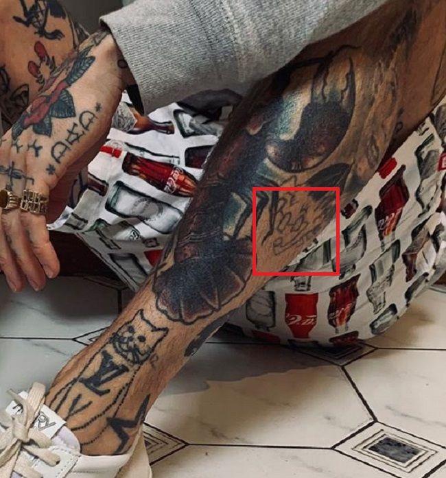 Ricki Hall-Leg-Tattoo