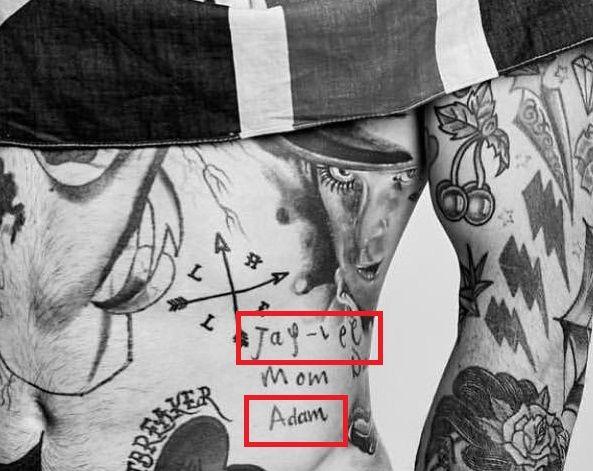 Ricki Hall-Names of Family Members-Tattoo