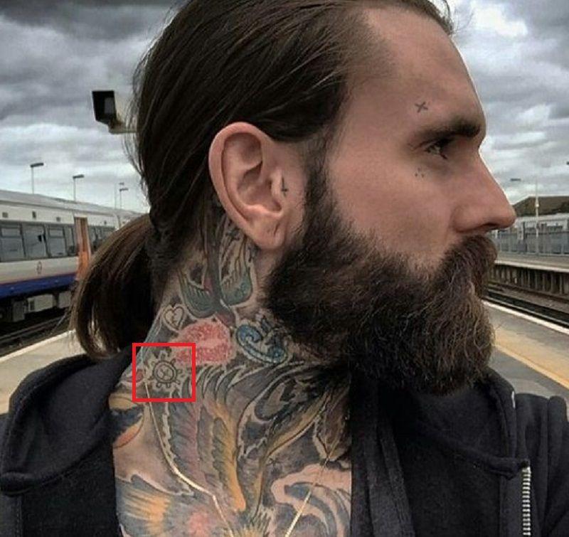 Ricki Hall-Ship Wheel-Tattoo