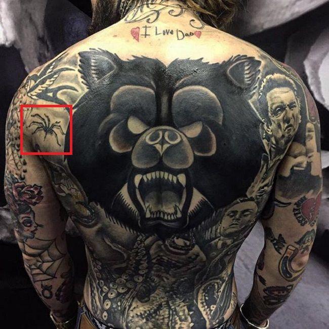 Ricki Hall-Spider-Tattoo