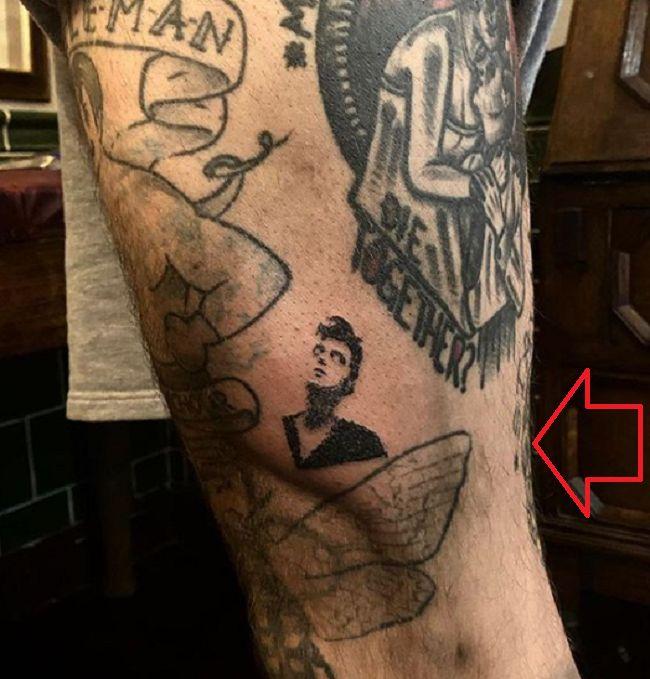 Ricki Hall-Tatt--Leg-Tattoo