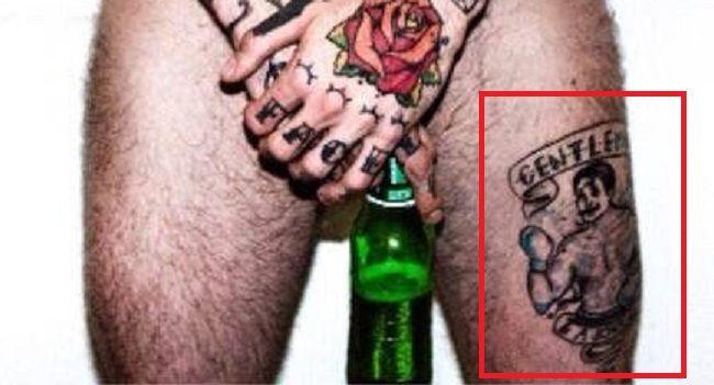 Ricki Hall-Tattoo-Thigh