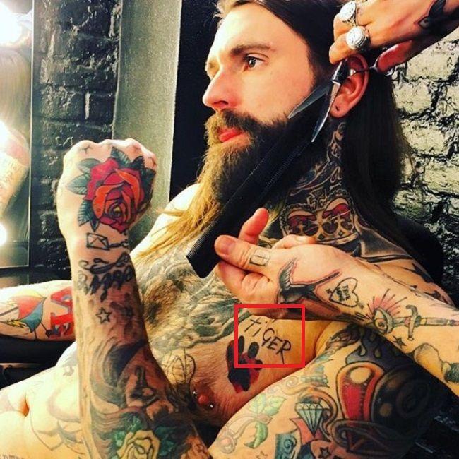 Ricki Hall-Tiger-Tattoo
