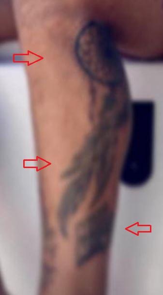 Simone Verdi dreamcatcher tattoo