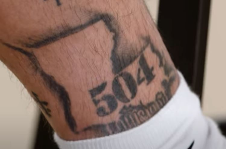 Tyrann Louisiana tattoo