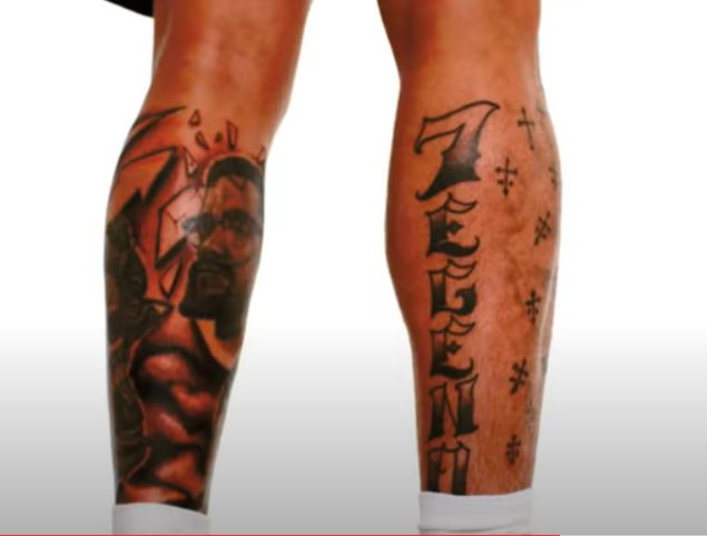 Tyrann leg tattoos