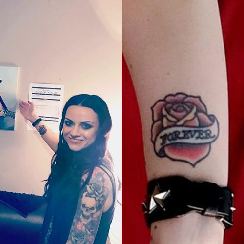 amy macdonald rose wrist tattoo