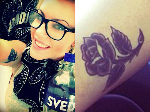 anna worstell tattoos rose