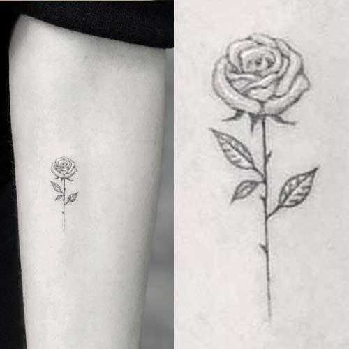 blanca padilla rose arm tattoo