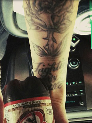 carah faye charnow grayscal rose tattoo