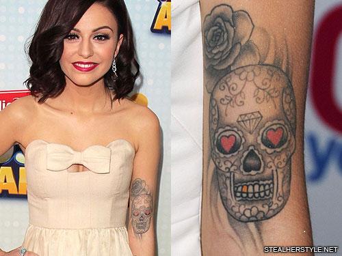 cher lloyd sugar skull tattoo1