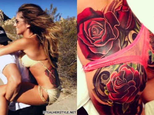 cheryl cole roses butt tattoo