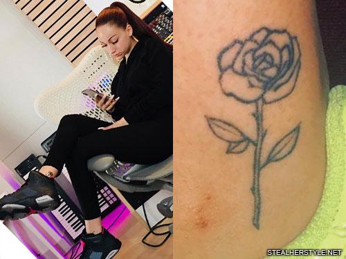 danielle bregoli rose ankle tattoo