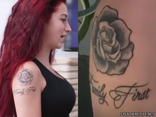 danielle bregoli rose family first arm tattoo