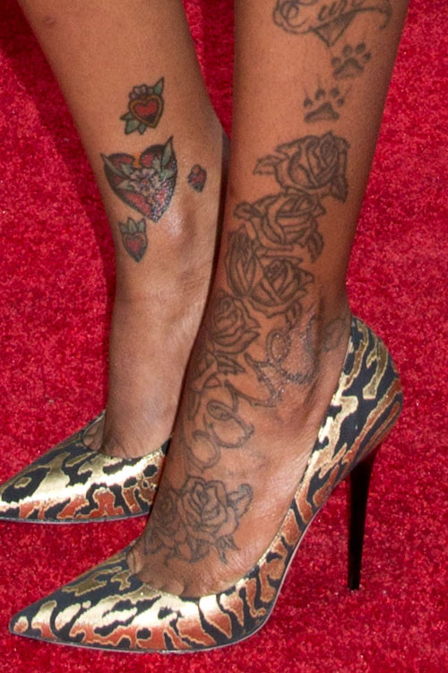 fantasia roses foot tattoo