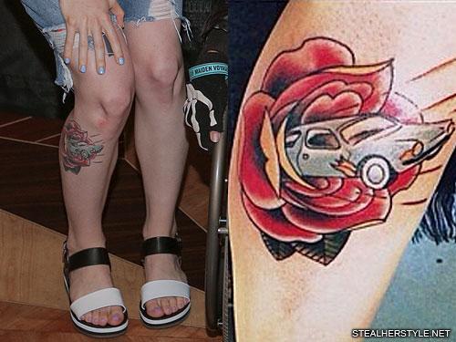 hayley williams car leg tattoo1