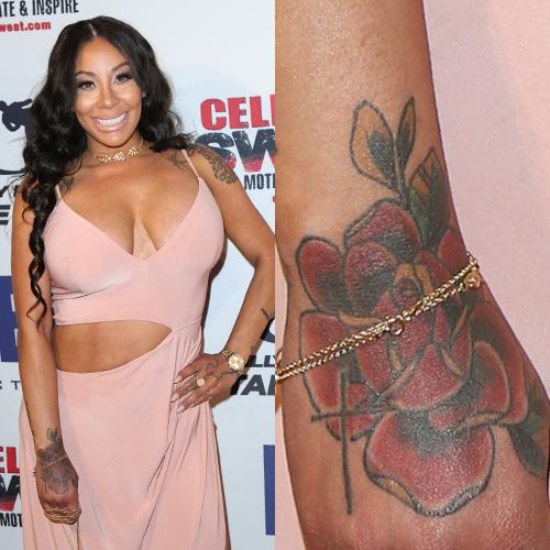 hazel e rose hand tattoo