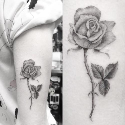 jaime king rose upper arm tattoo