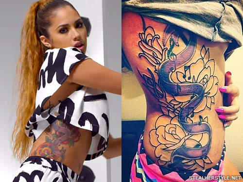 jasmine villegas side tattoo