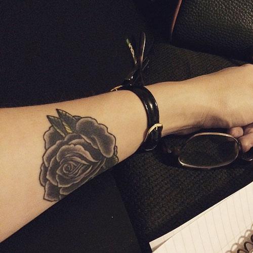 lauren west rose tattoo