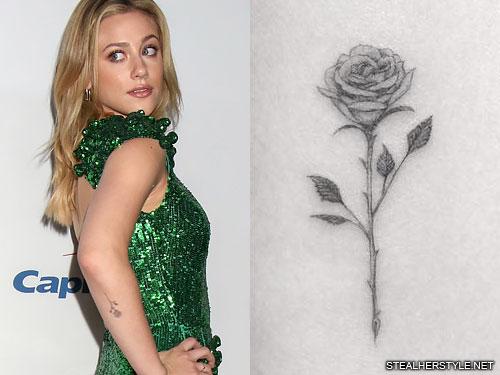 lili reinhart rose forearm tattoo