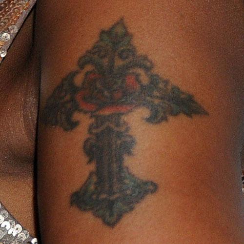 mary j blige cross arm tattoo