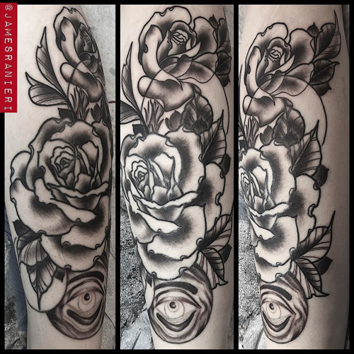 renee phoenix roses tattoo