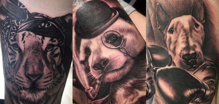Alberto animal tattoos