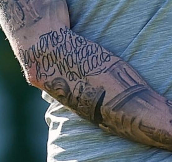 Alberto arm tattoo
