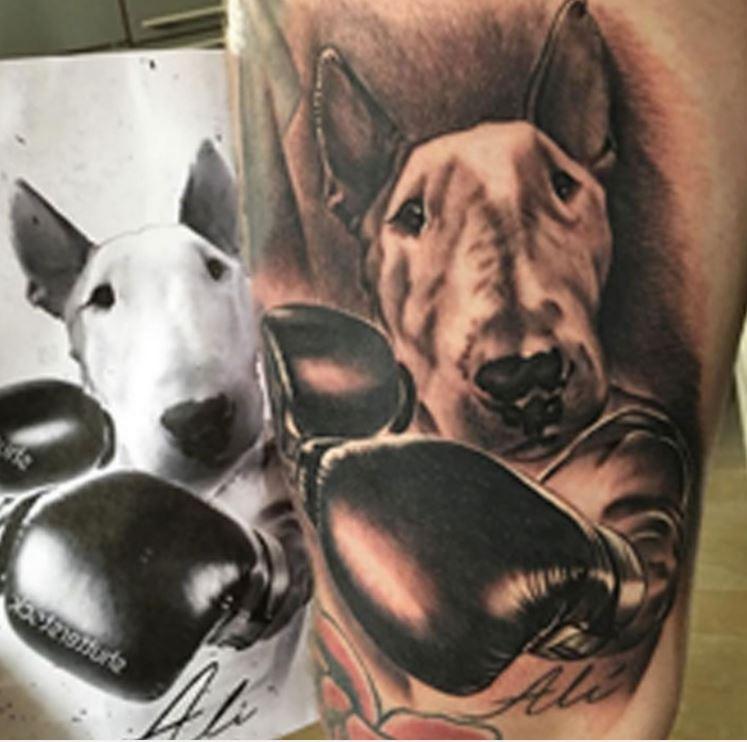 Alberto bull dog Tattoo.