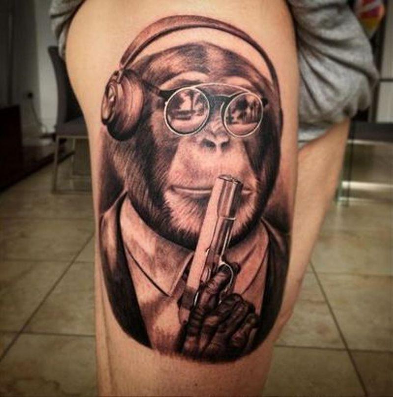 Alberto chimp Tattoo