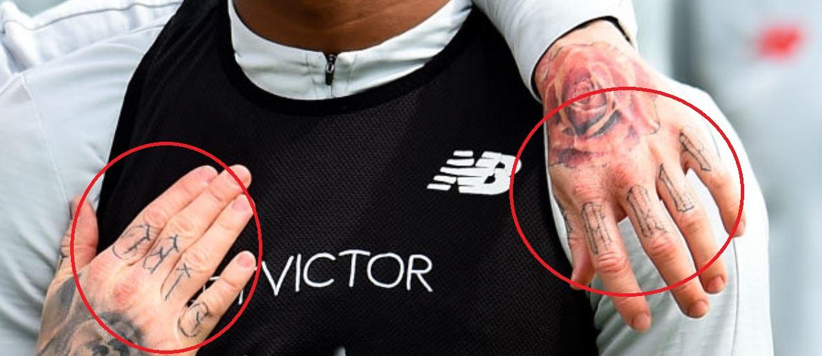 Alberto hand tattoos