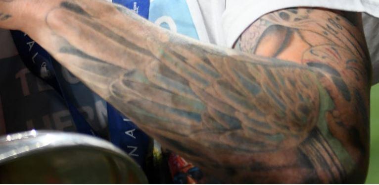 Alberto left arm tattoo