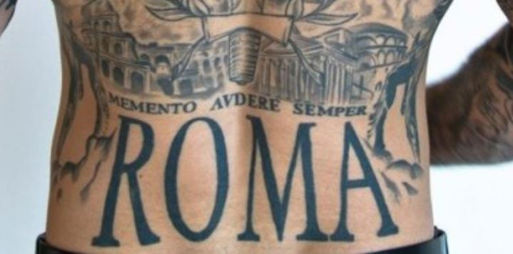 Alessio lower back latin writing
