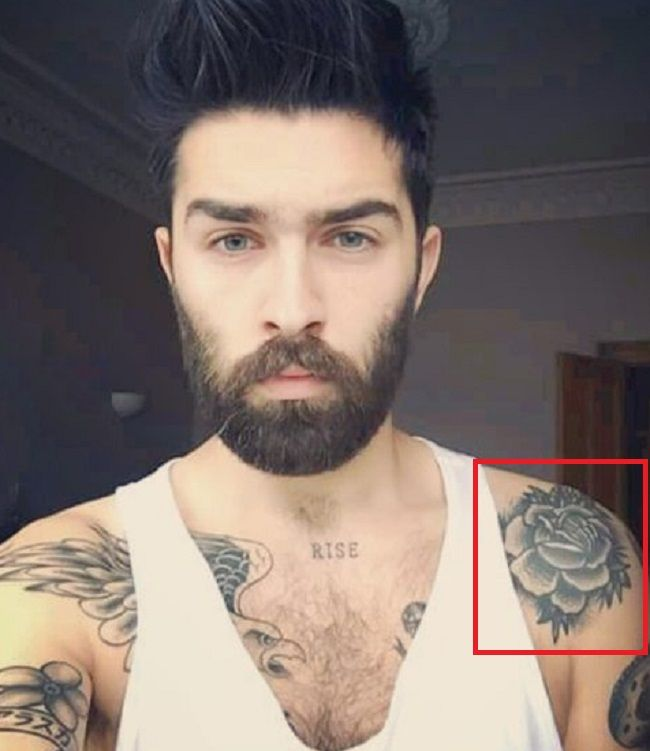 Chris John Millington-Rose-Tattoo