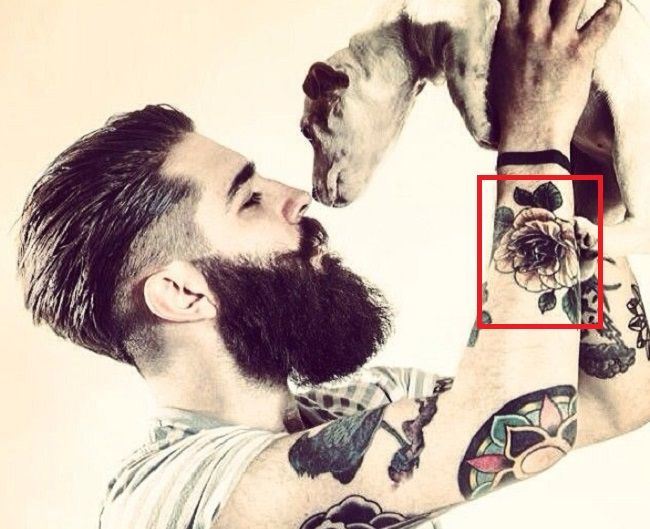 Chris John Millington-Yellow Rose- Tattoo