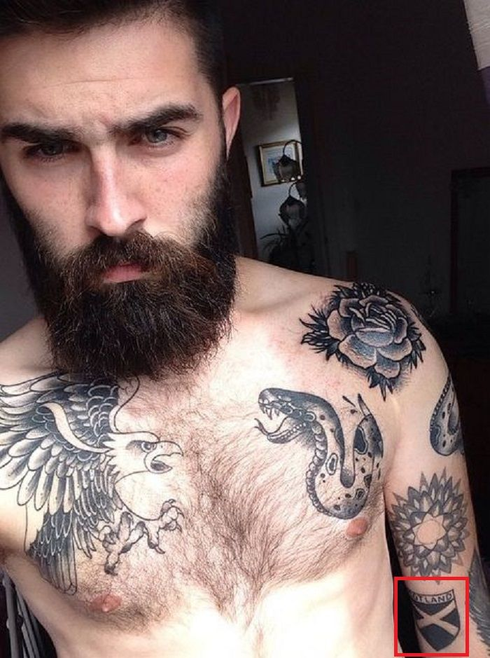 Chris-Millington-Flag of Scotland-Tattoo