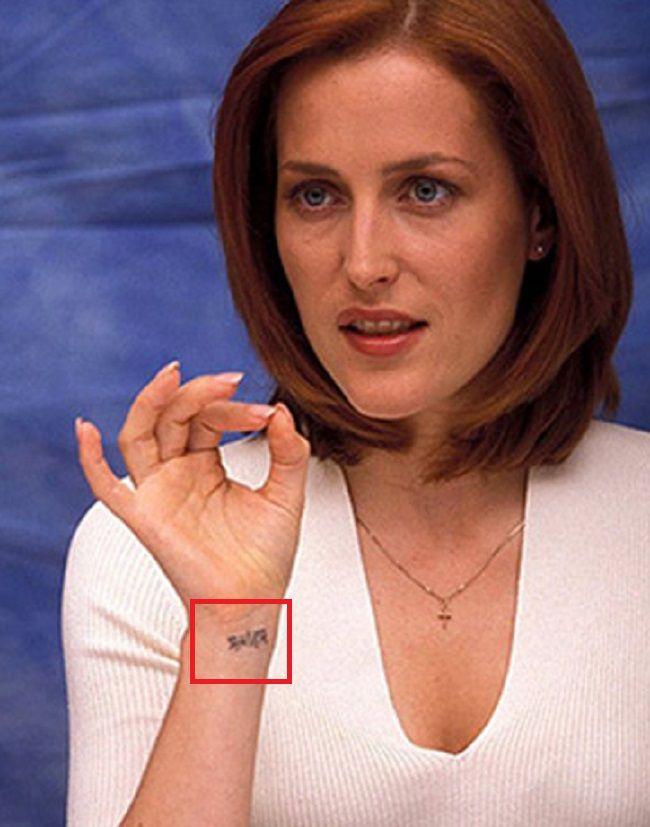 Gillian anderson-Tattoo-Wrist