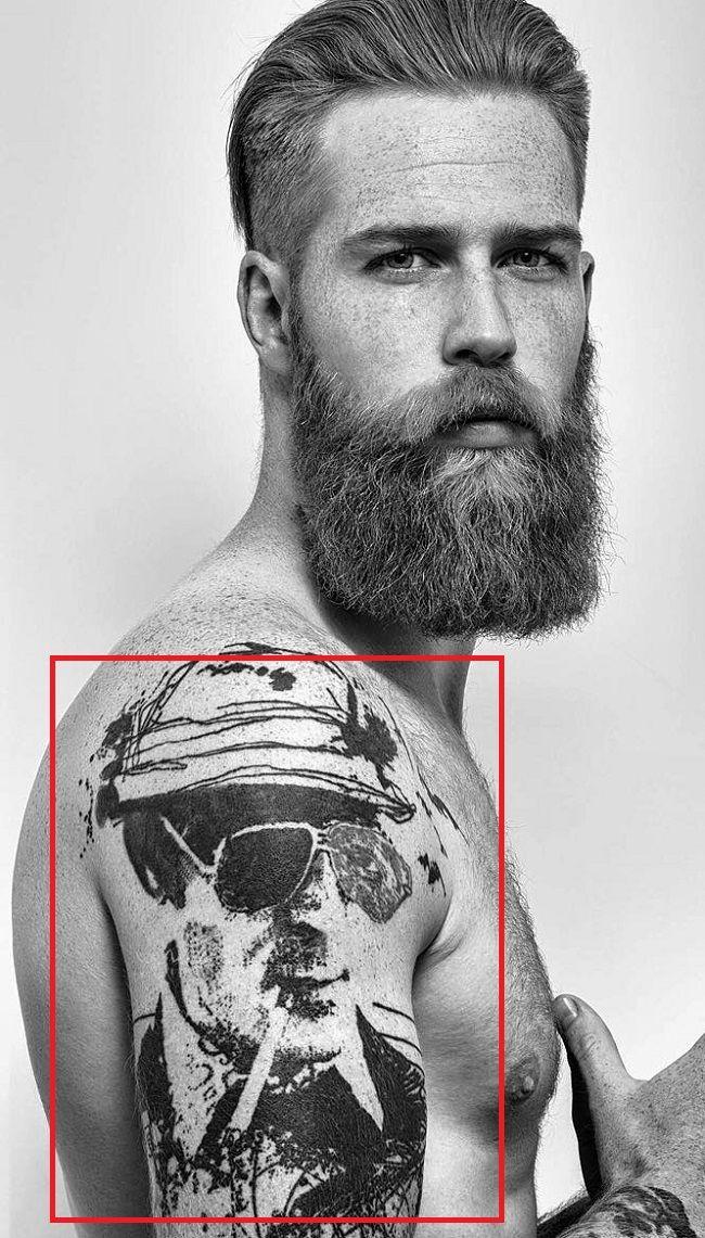 Gwilym Pugh-Hunter S Thompson-Tattoo