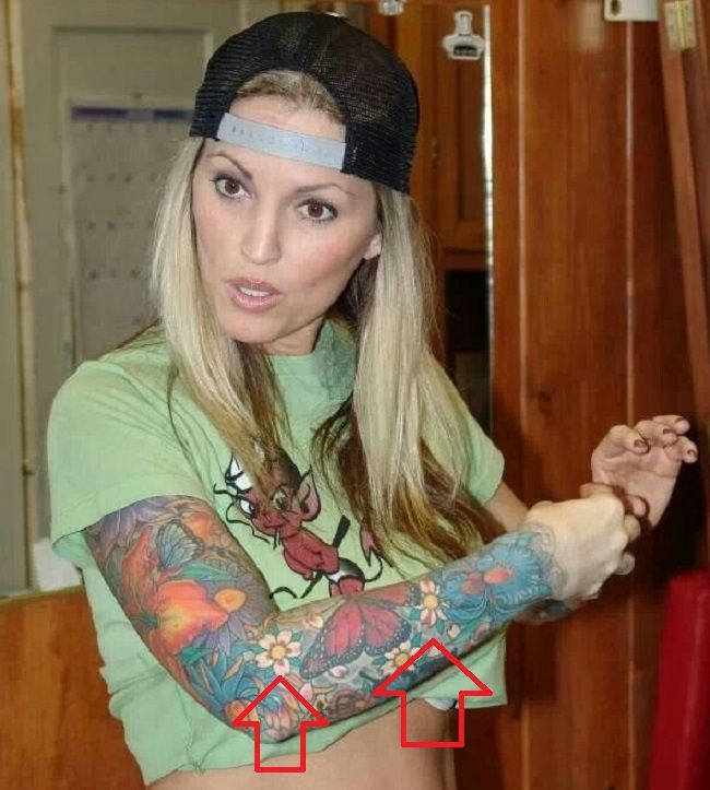 Janine Lindemulder-Tattoo-Arm