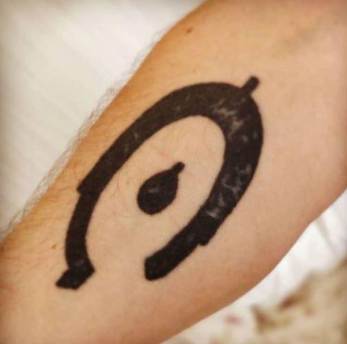 Matt Ibbs halo tattoo