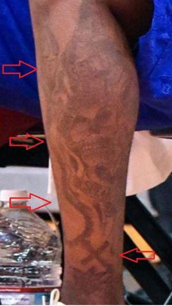 Montrezl Harrell skull banner tattoo