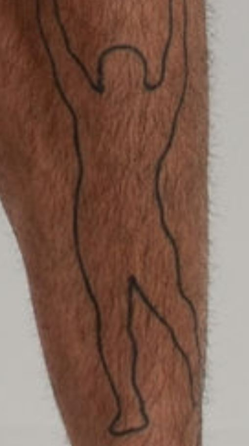 Sakara left leg tattoo