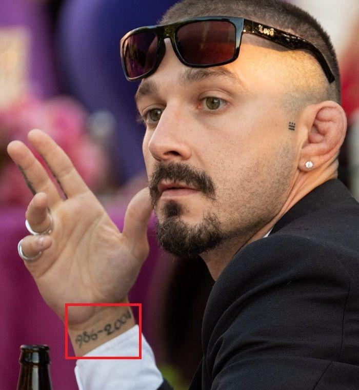 Shia LaBeouf-Tattoo
