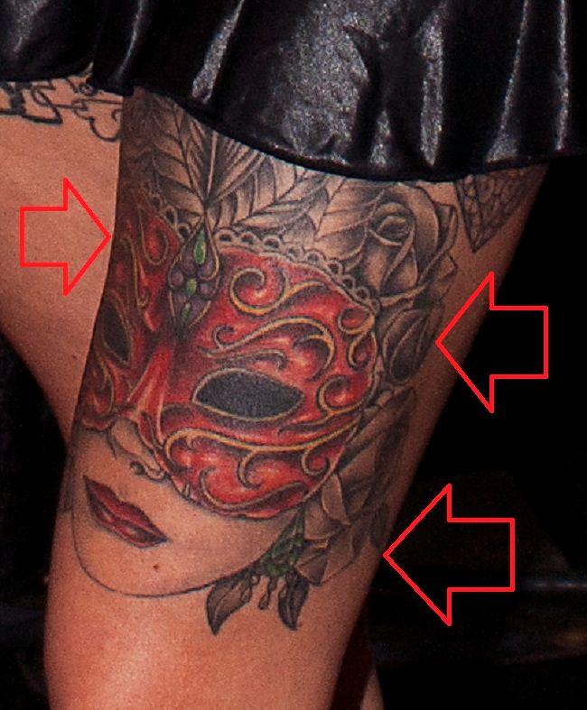 Anna Bell Peaks-Mask-Tattoo